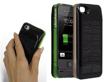 【限定20個 30%OFF】ソーラー充電可iPhone4/4S用ソーラーパワージャケットCPJ-2400iS