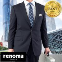 【RENOMA HOMME】 ノータックスリムスーツ 日本製生地使用 【2000円クーポンご利用可!】 全2柄 RS3032