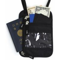 PR Tramo パスポートケース 首下げ スキミング防止 ネックポーチ 海外旅行 便利 貴重.