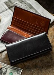 イタリア製オリーチェレザー長財布(小銭入れあり)★名入れ無料★