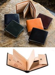 【販売累計10万個突破!】伝統の英国製ブライドルレザー使用の二つ折り財布