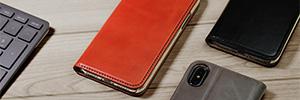 iPhone X/8/7/6/5 本革 手帳型ケース カード収納付き